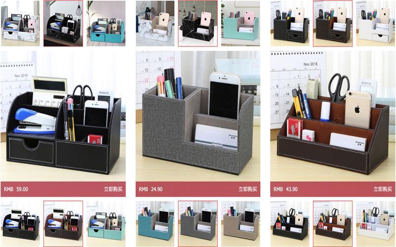 Văn phòng phẩm được bày bán trên Taobao vô cùng bắt mắt với giá rẻ